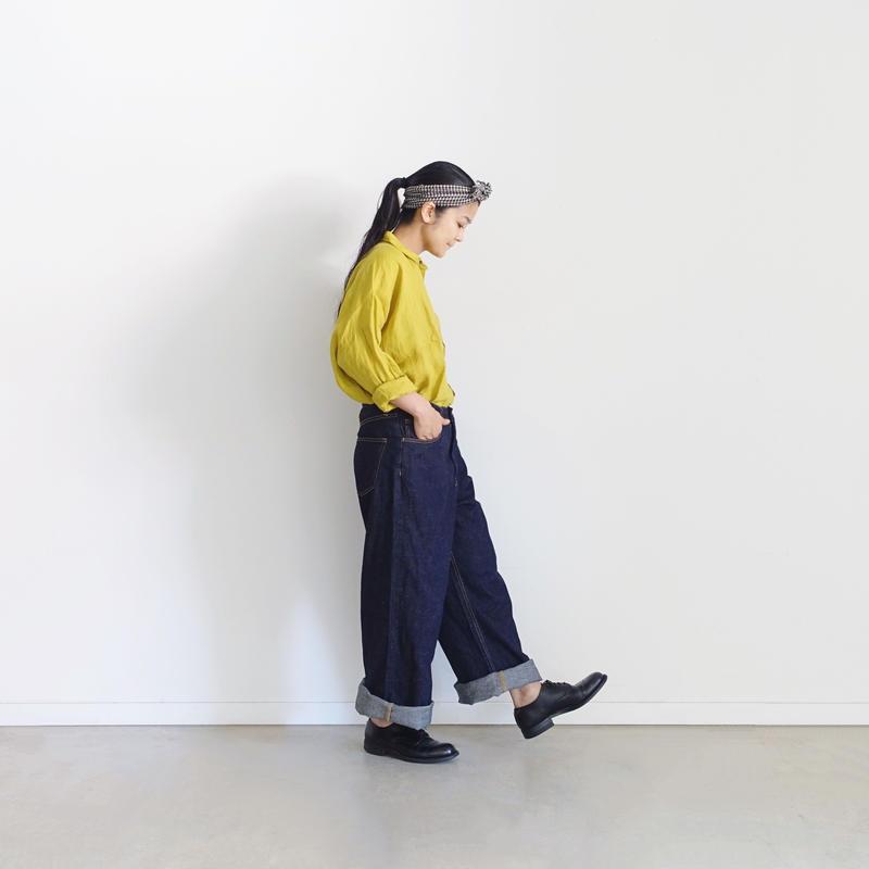 ichiAntiquités 500128 Cotton Linen DENIM Pants / INDIGO