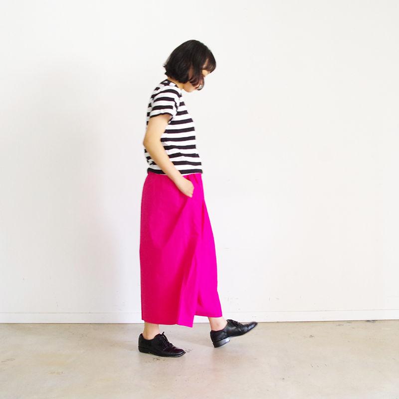 i c h i 190120 Cotton Typewriter Wide Pants / Pink