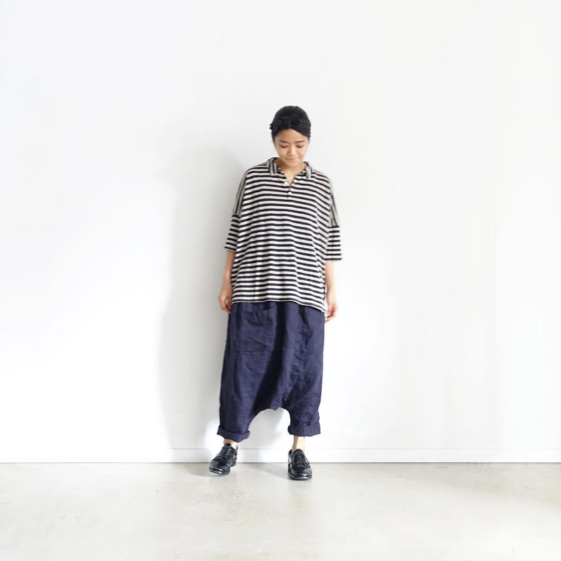ichiAntiquités 100930 Linen Chino Pants / NAVY