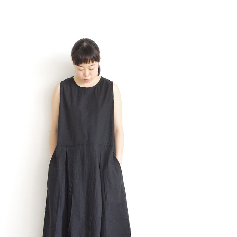 i c h i 181208 Cotton Typewriter Dress / Black