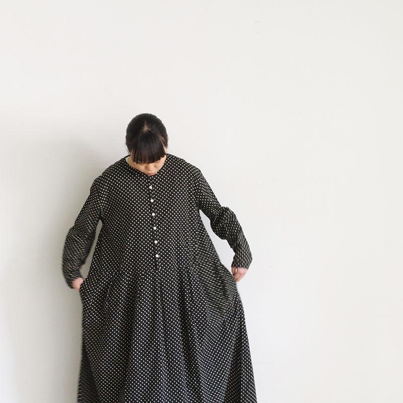 i c h i 181008 Dot Dress  / Black