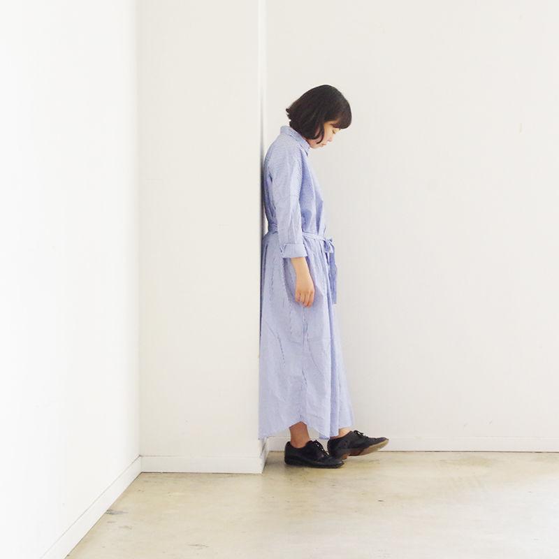 i c h i 190117 Cotton Stripe Shirts Dress