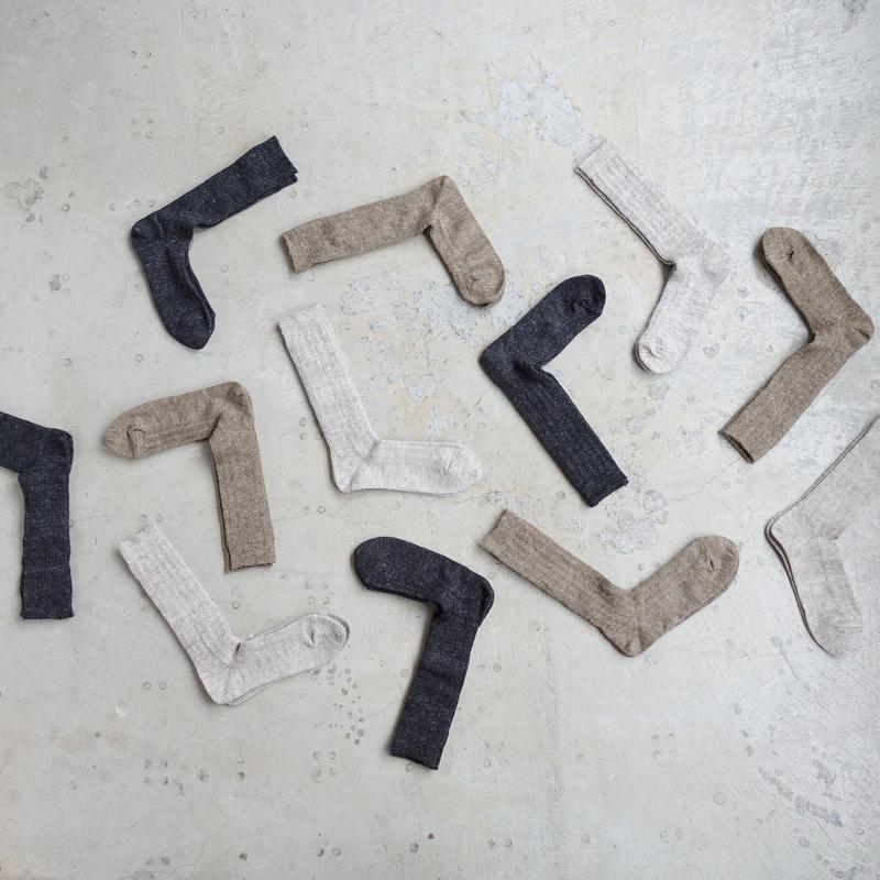 Loiter L012 Linen Linen Pattern Socks / 3 COLORS