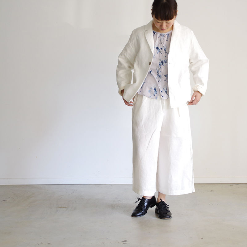 i c h i 181037 Linen Pants / White