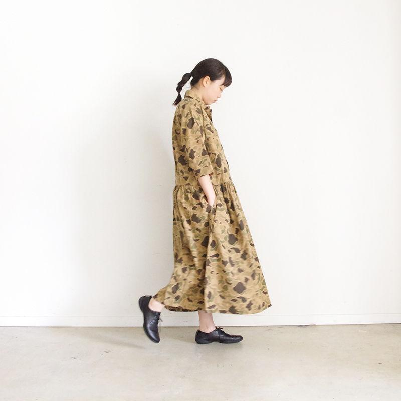 i c h i 181214 Camouflage Dress / Beige