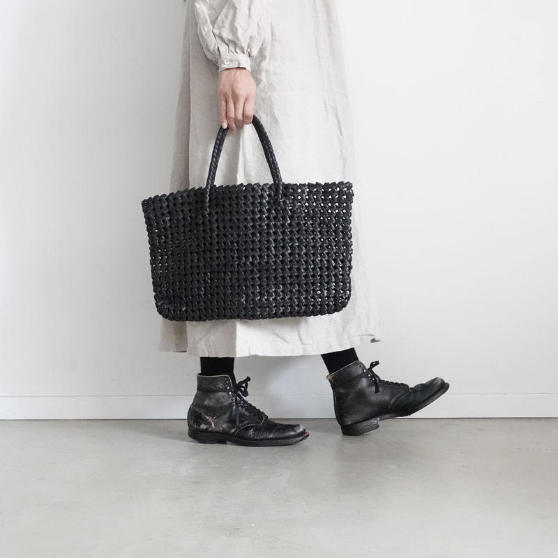 KYUCA  KY0280 Leather Tote  / BLACK