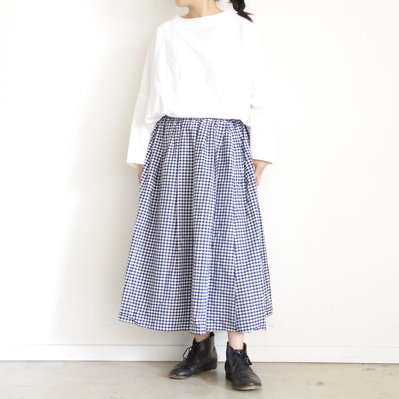 i c h i 181115 Gingham Check Skirt