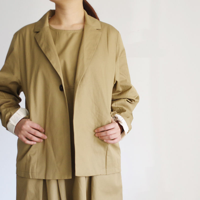 i c h i 181032 Cotton Chino Jacket / Beige