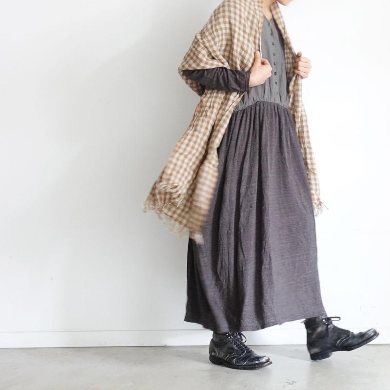 ichiAntiquités 100636  Linen Dress / CHARCOAL