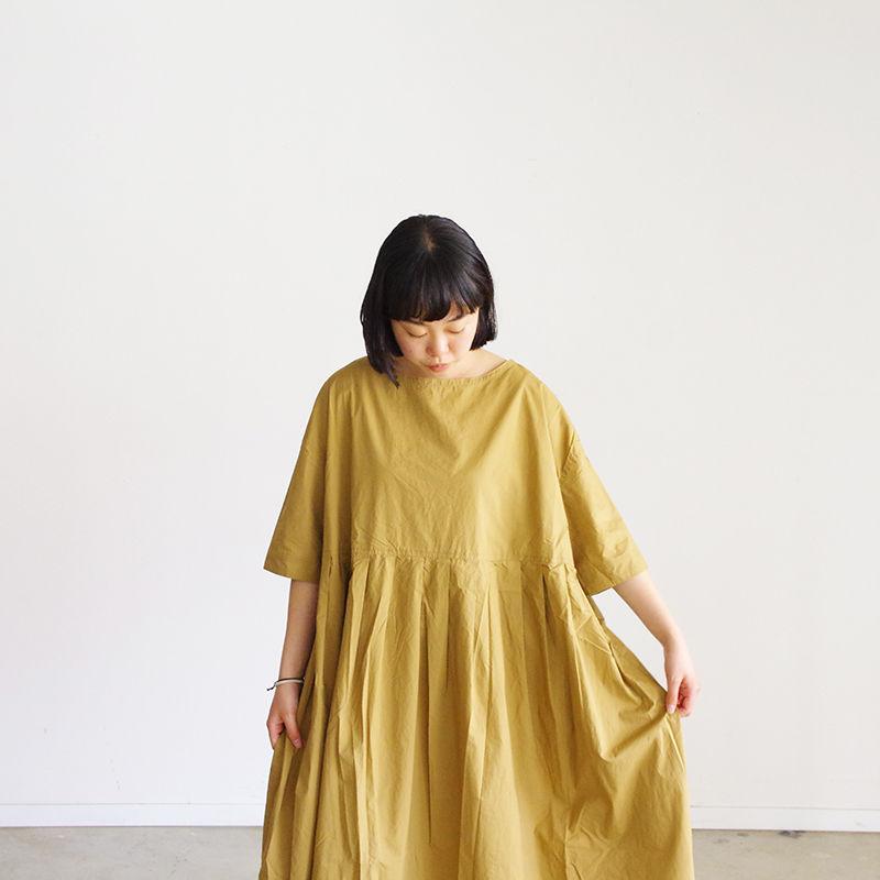 i c h i 190119 Cotton Typewriter Dress / Beige