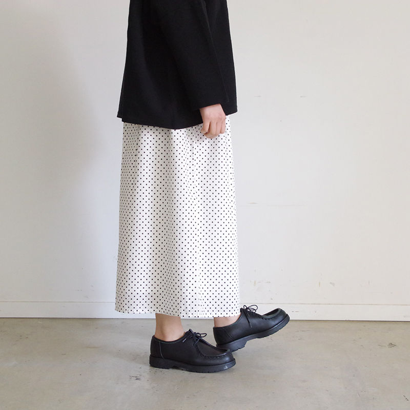 i c h i 181009 Dot Wide Pants  / White