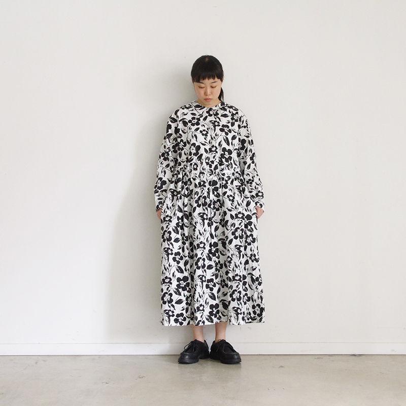 i c h i 181107 Cotton Flower Dress / Black