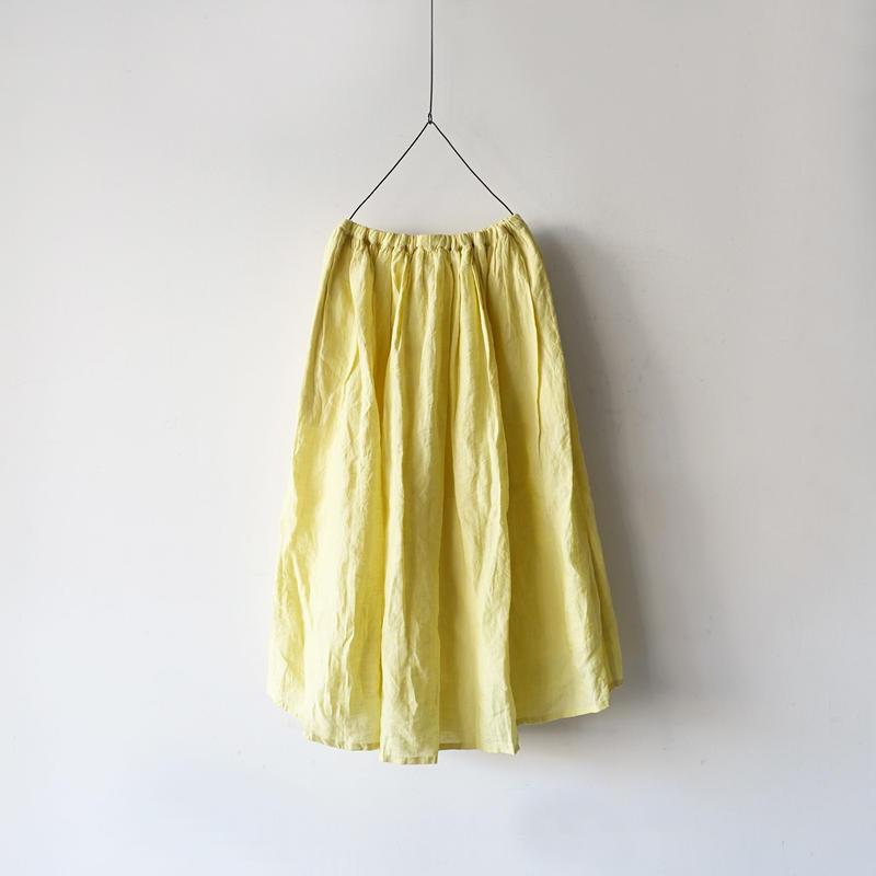 ichiAntiquités 500114 Color Linen  Skirt / 3 COLORS