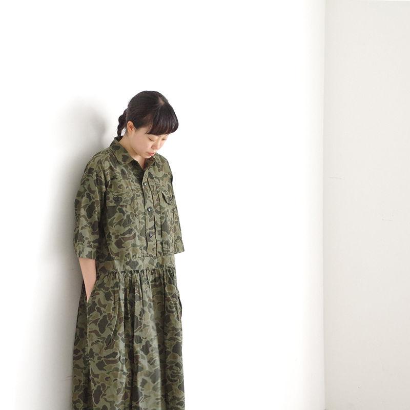 i c h i 181214 Camouflage Dress / Khaki