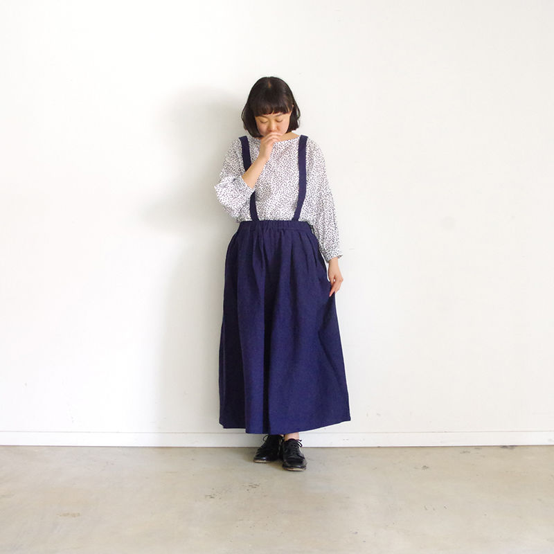 i c h i 190134 Suspender Pants / Navy