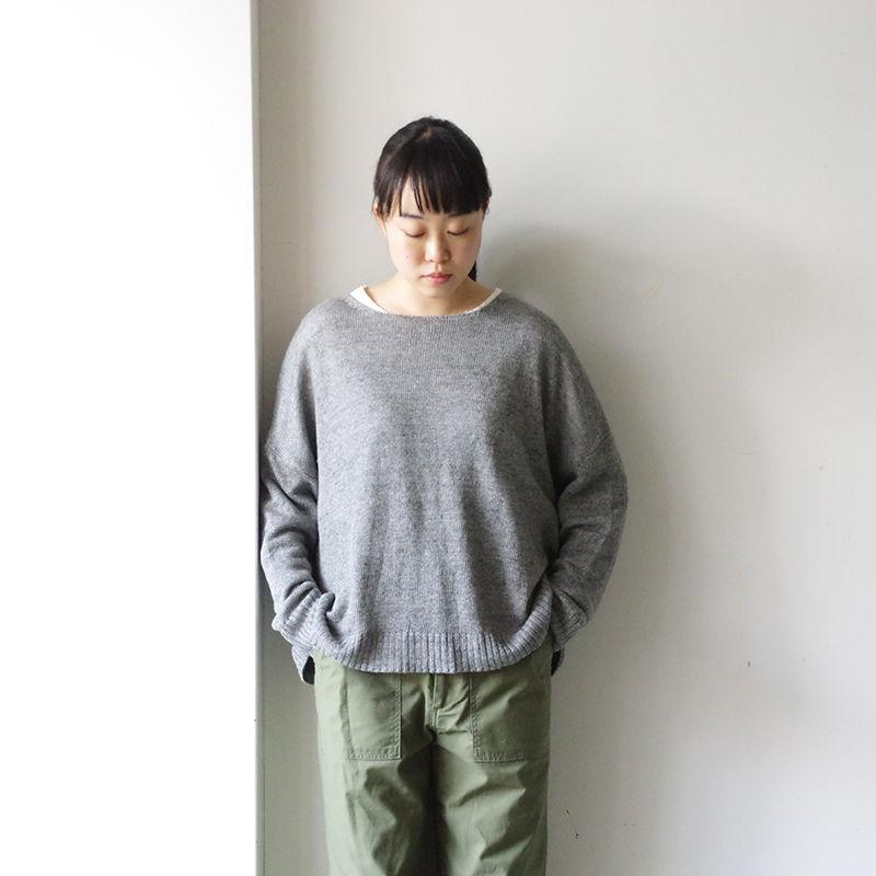 i c h i 181071 Linen 2-Way Knit Pullover / Gray