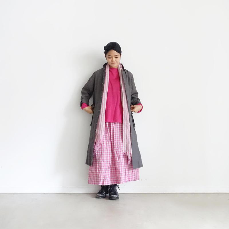 ichiAntiquités 100902  Linen Coat / Charcoal