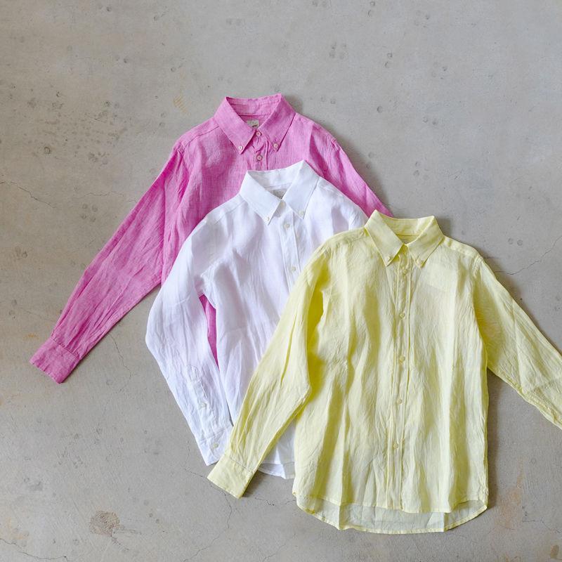 LANAI LA008 Linen Shirt / 3COLORS ( MENS SIZE )