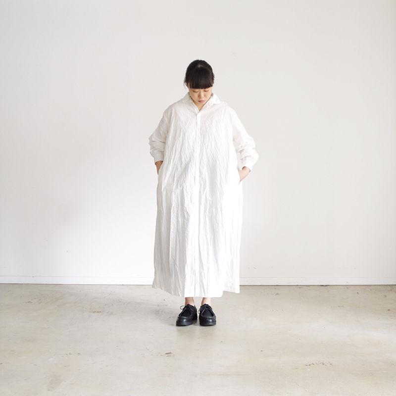 i c h i 181022 Cotton Shirts Dress / White