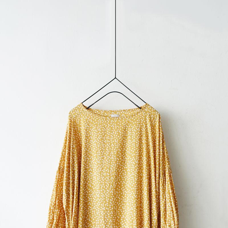 i c h i 190102 Dot Dress / Gold x White
