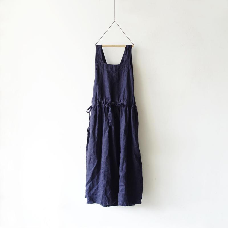 ichiAntiquités 100929 Linen Chino 2way Dress / NAVY