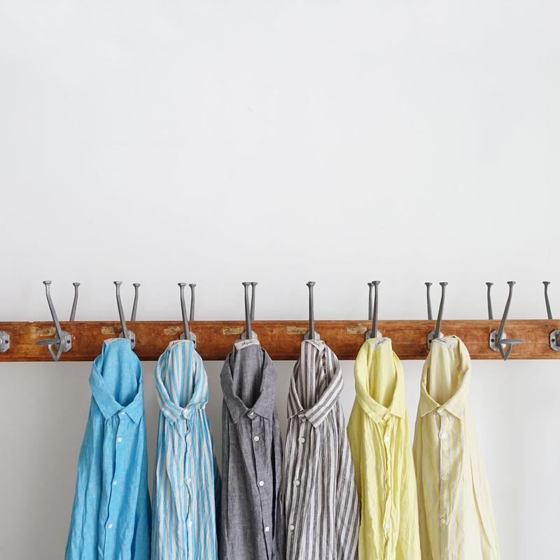 ichiAntiquités 500115 Stripe Linen Shirt / 3 COLORS