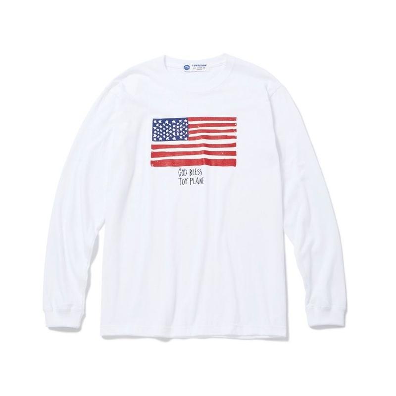 L/S FLAG TEE