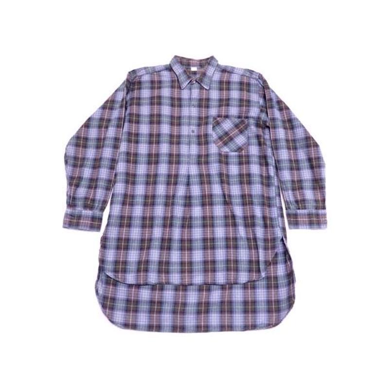 【ヨーロッパ古着】 フランス製 グッドサイズ! グランパシャツ 色味◎