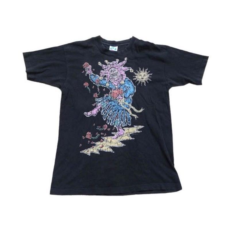【グレイトフルデッド】 90s LIQUID BLUE製 Tシャツ 両面グッドプリント!