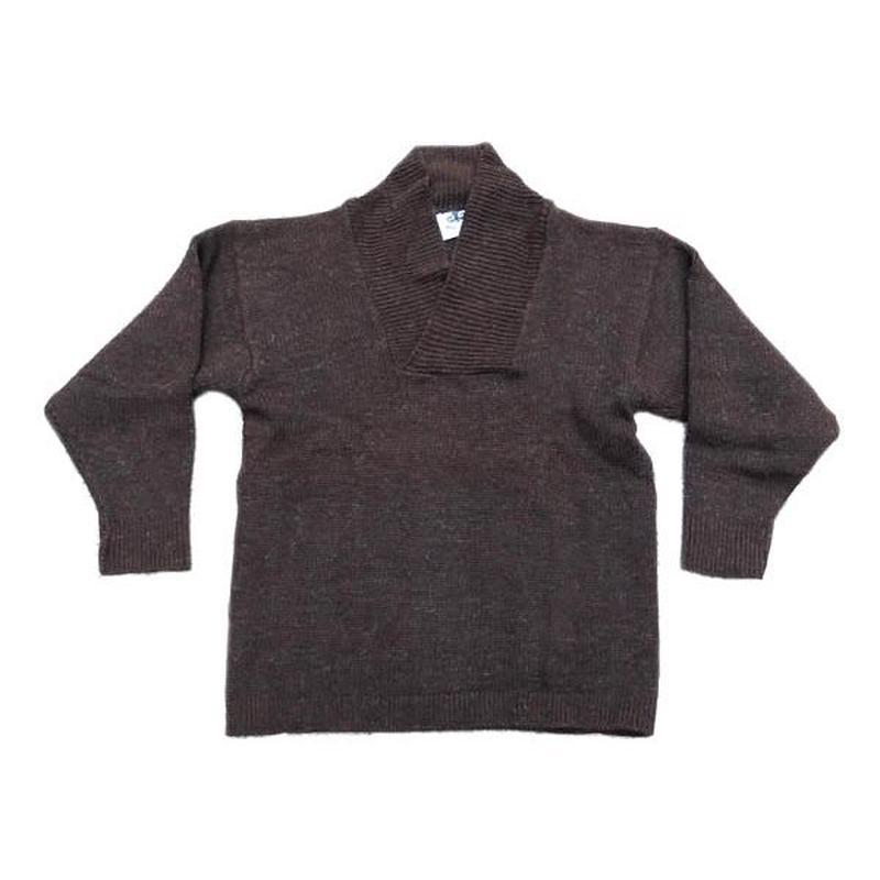 【ブラックシープ】 イングランド製 オイルドニット セーター 変形襟