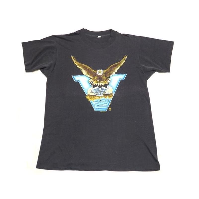 【ハーレーダヴィッドソン】 80s 超グッドプリント! Tシャツ Lサイズ