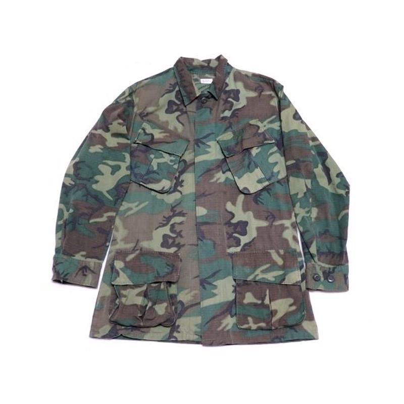 【U.S.ARMY】 60s グリーンリーフカモ柄 ファティーグジャケット
