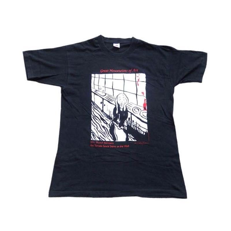 【ムンクの叫び】 90s パロディ アートTシャツ グッドプリント!