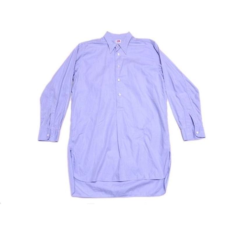 【ヨーロッパ古着】 マチ付き グランパシャツ サイズ感◎