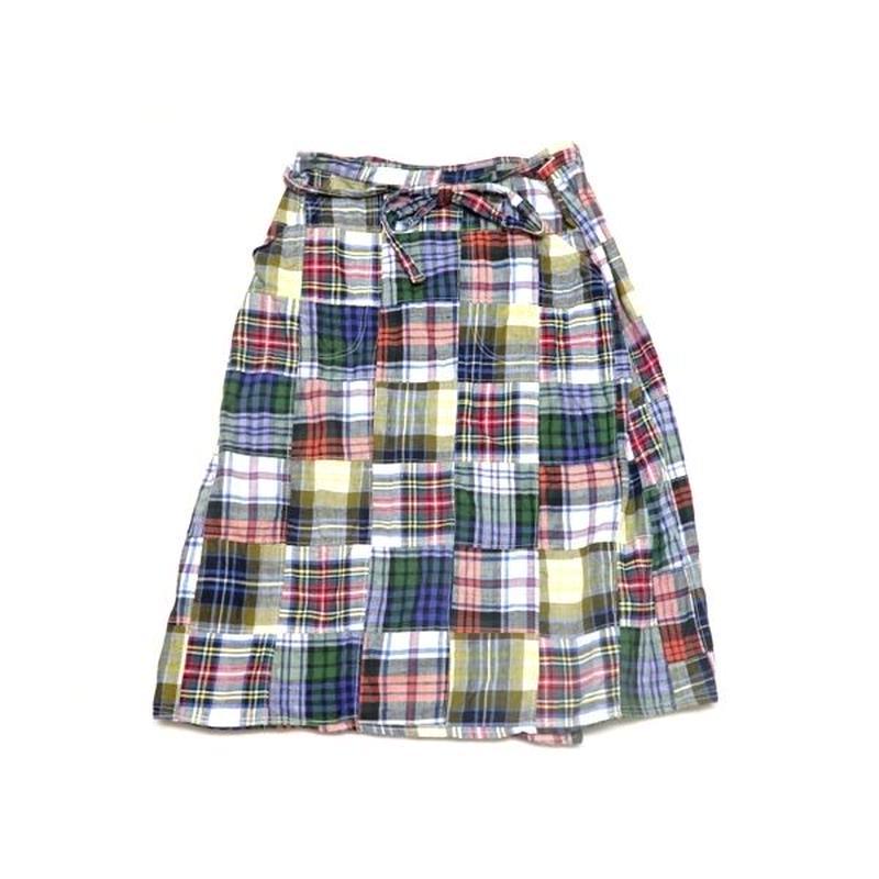 【ORVIS】 アメリカ製 ラップスカート Mサイズ パッチワーク!