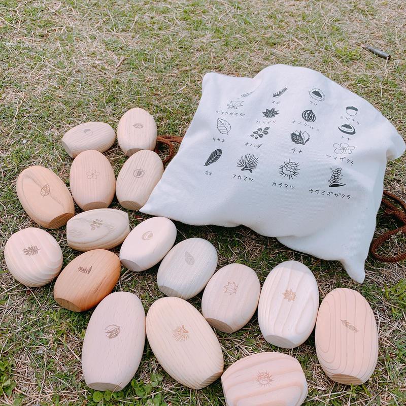 まあるいつみきmini stand 16個(16樹種)セット