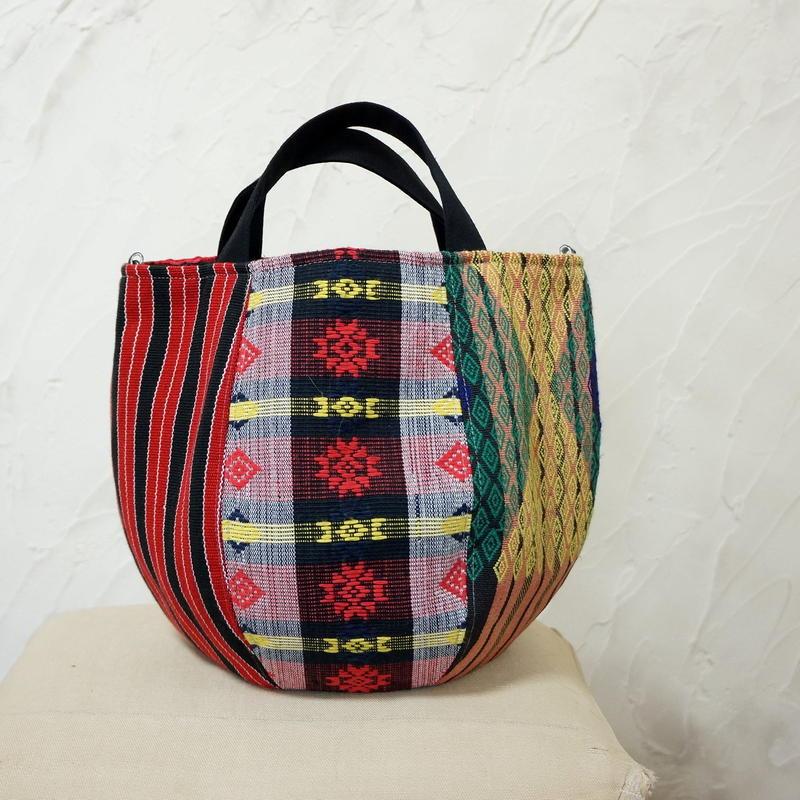 フィリピン織物ミックス ボニーバッグSサイズ (A)