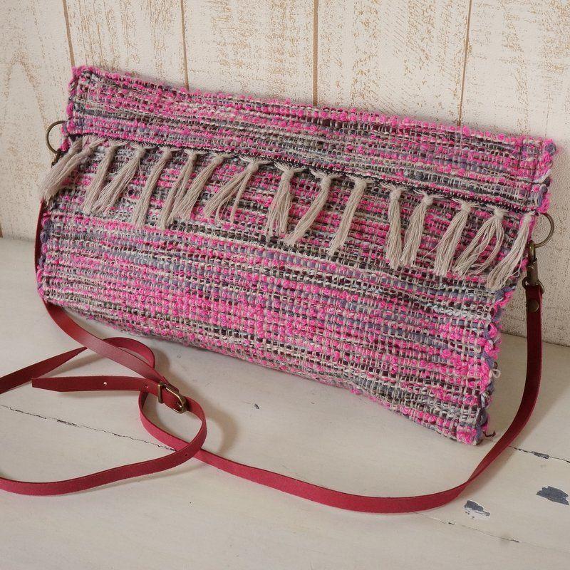 フィリピン織物・リメイク・クラッチ