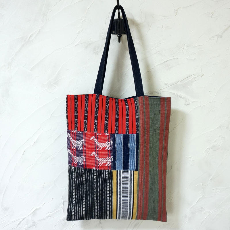 フィリピン織物ミックス A4トート(A)