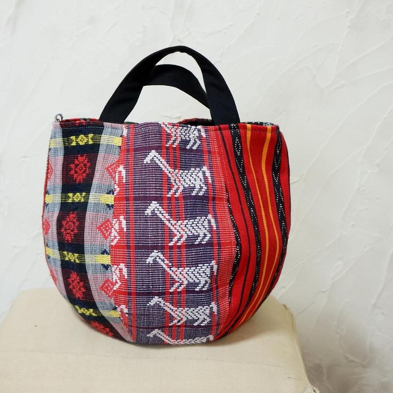 フィリピン織物ミックス ボニーバッグSサイズ (C)