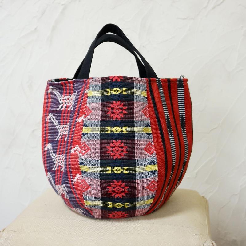 フィリピン織物ミックス ボニーバッグSサイズ (B)