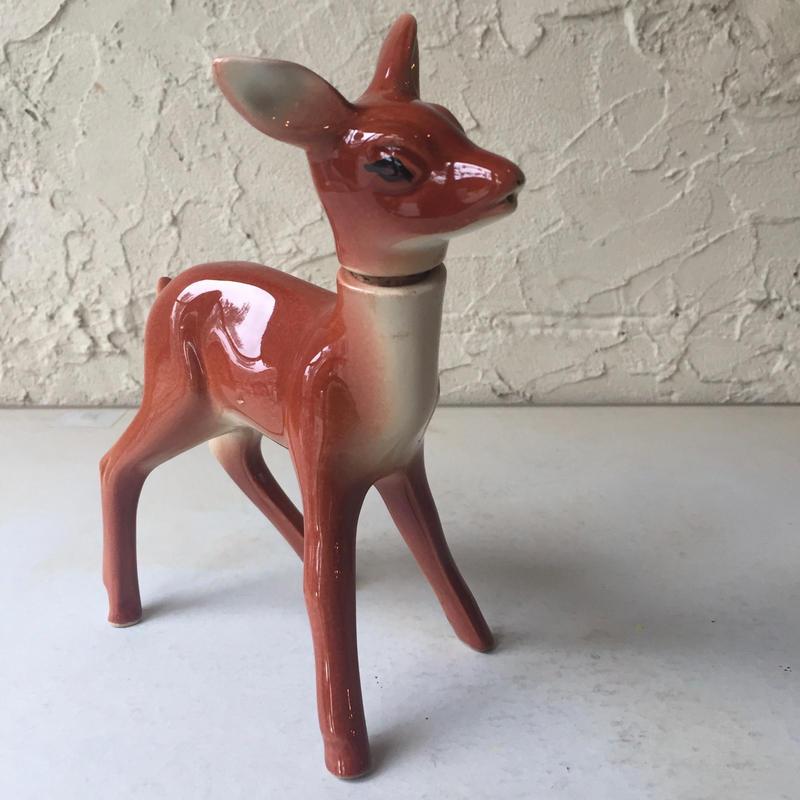 鹿 バンビ 陶器 水差し 水滴  ピッチャー オブジェ vintage