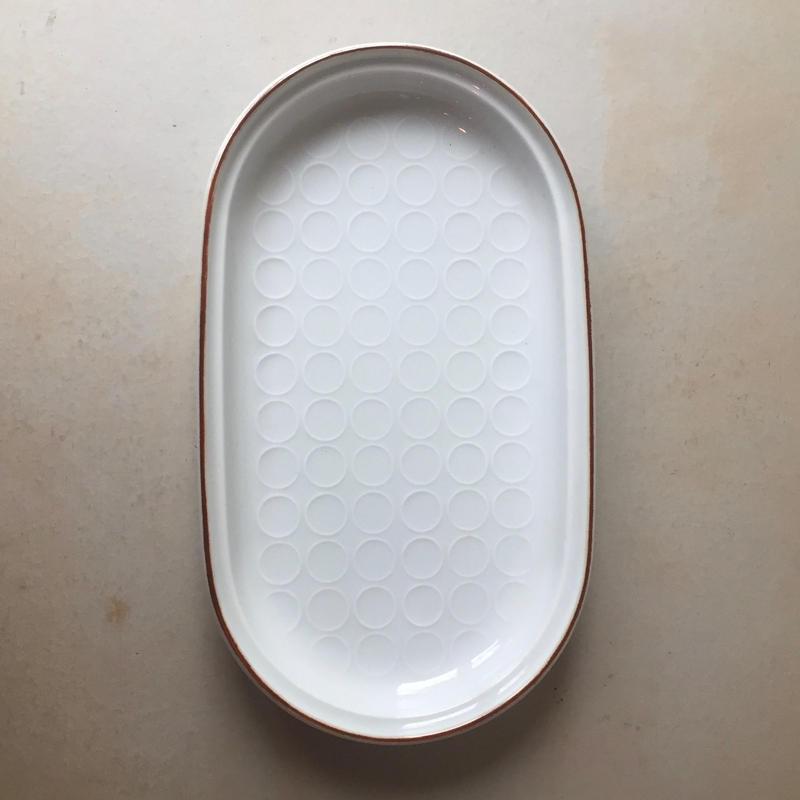 白山陶器 白磁丸紋トレイ 大皿 プレート