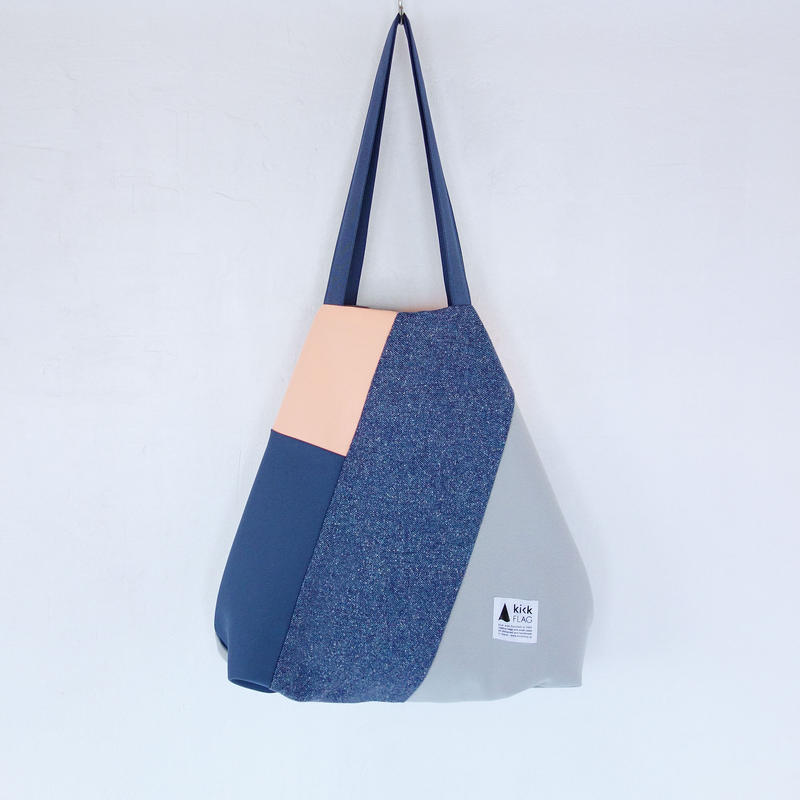 flag bag(ブルーグレー・サーモンピンク)