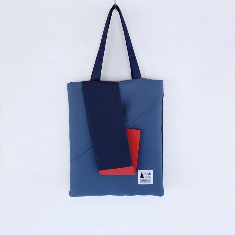 square bag(ネイビー・レッド)