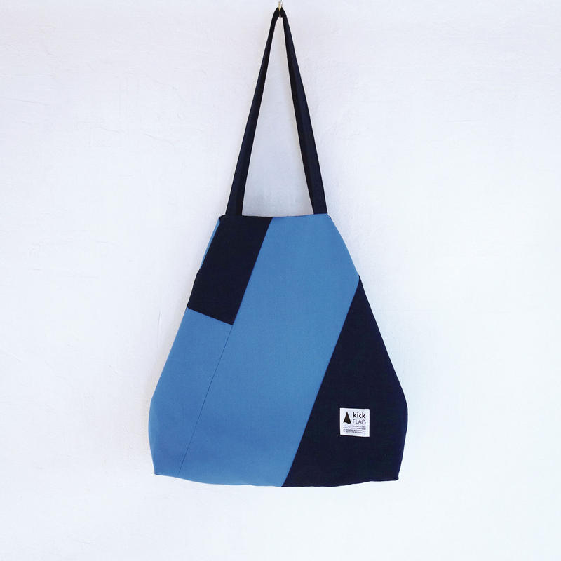flag bag(ネイビー・ライトブルー)