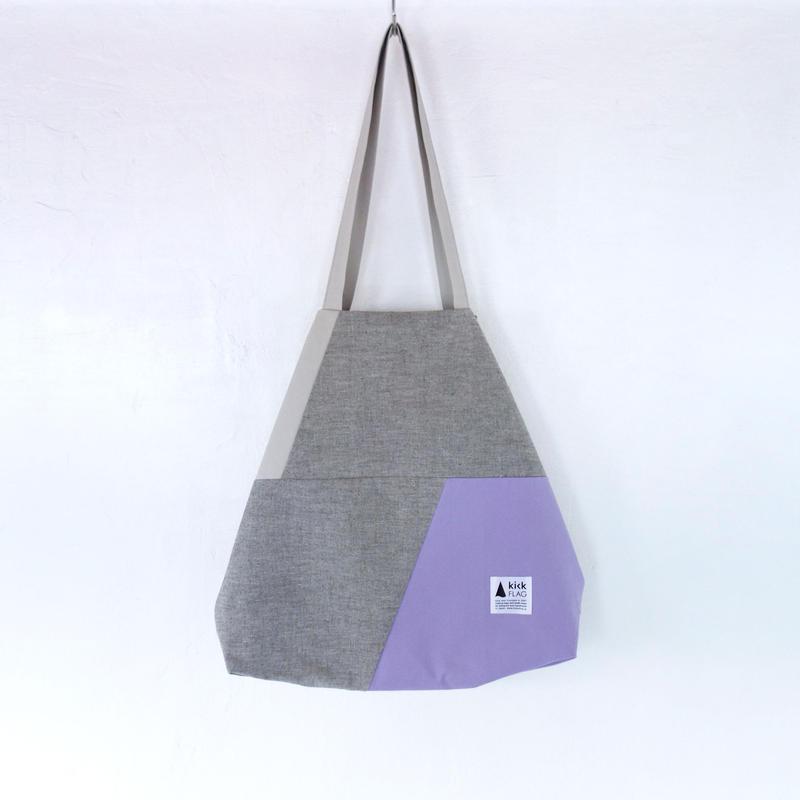 flag bag(ミックスグレー・ペールパープル)