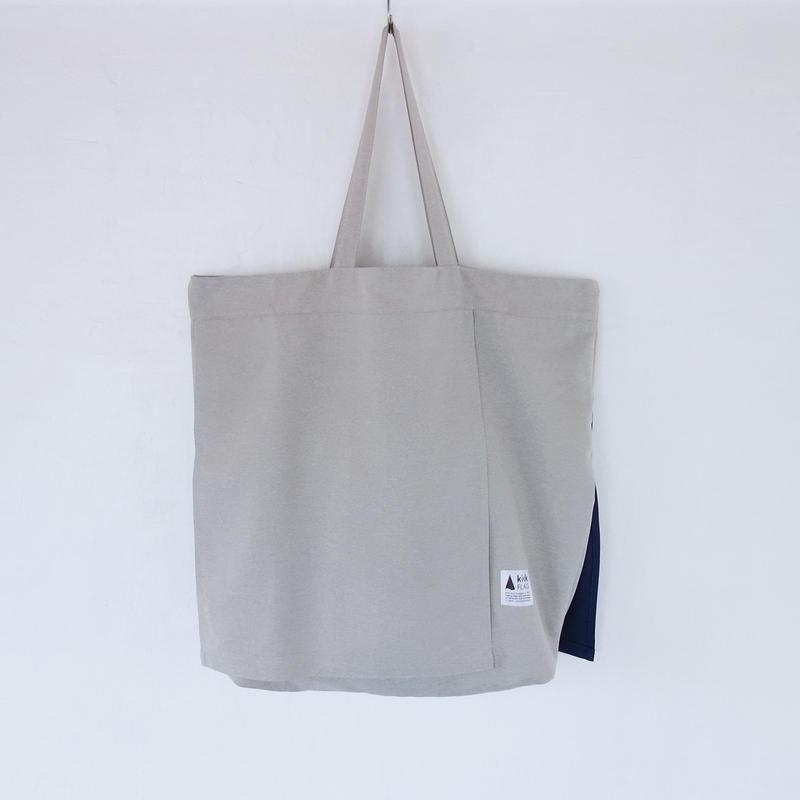 wrap bag(ペールグレー・ネイビー)