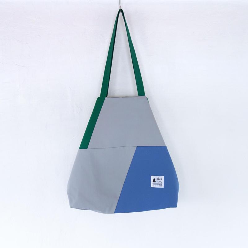 flag bag(グリーン・ライトブルー)