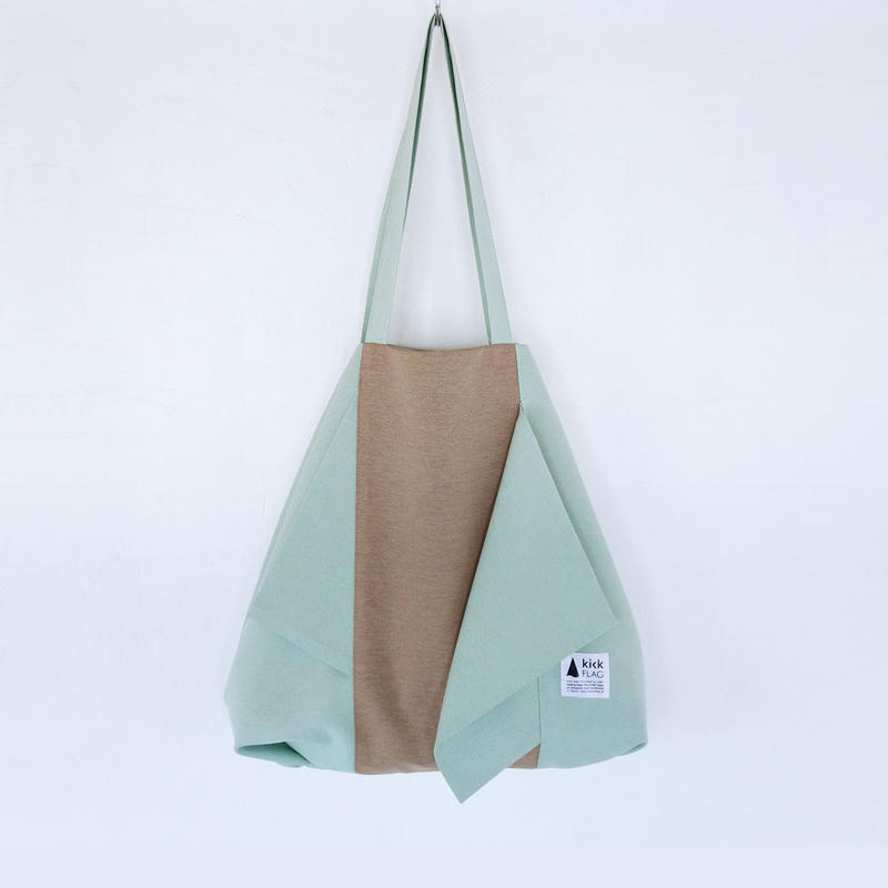 flag bag / ks(ペールグリーン・ペールブラウン)